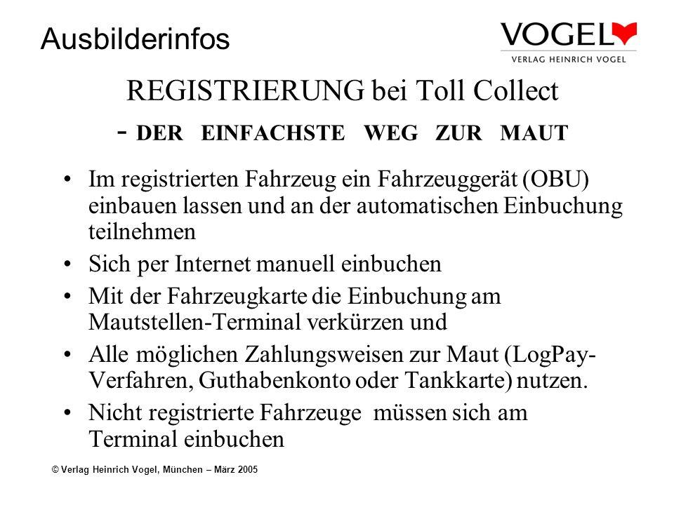REGISTRIERUNG bei Toll Collect - DER EINFACHSTE WEG ZUR MAUT