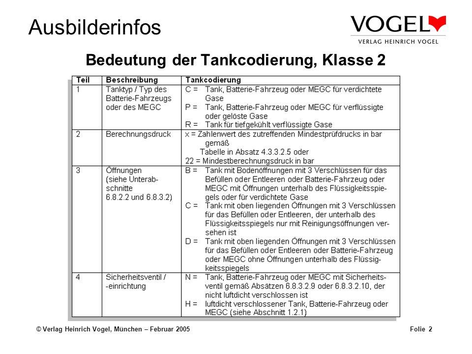 Bedeutung der Tankcodierung, Klasse 2