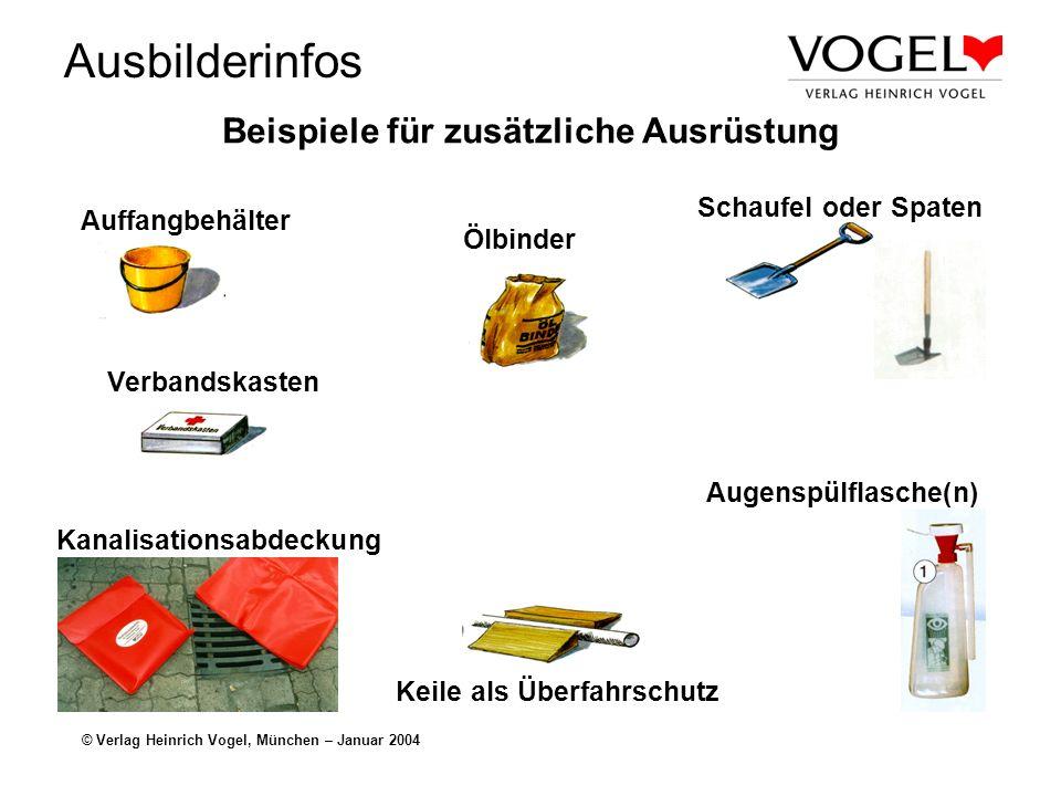 Beispiele für zusätzliche Ausrüstung