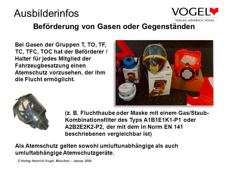 Beförderung von Gasen oder Gegenständen
