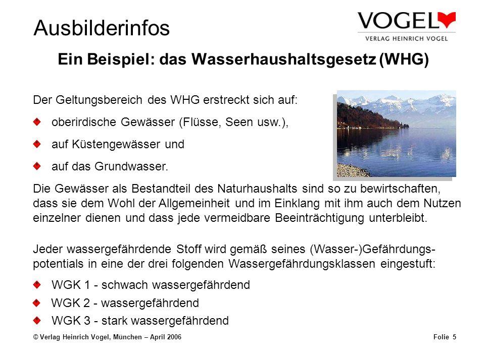 Ein Beispiel: das Wasserhaushaltsgesetz (WHG)