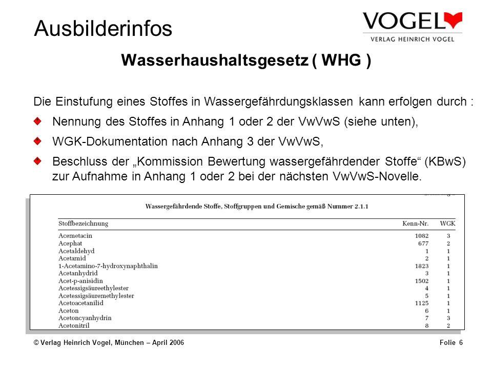Wasserhaushaltsgesetz ( WHG )