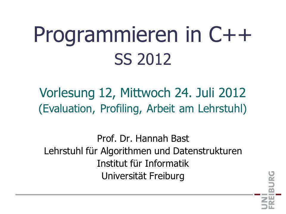 Programmieren in C++ SS 2012