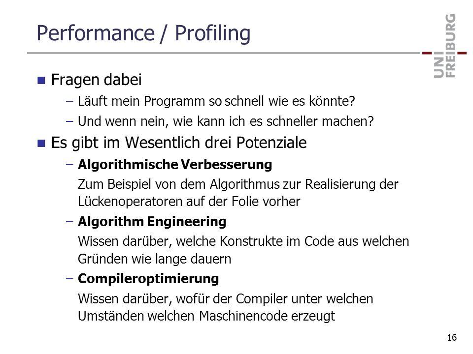Performance / Profiling
