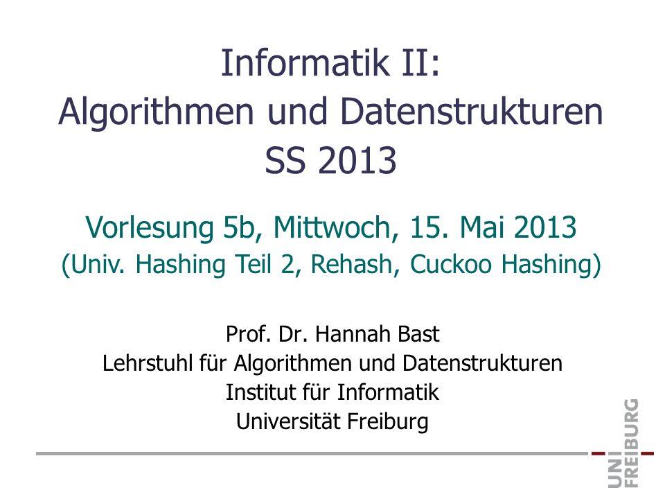 Informatik II: Algorithmen und Datenstrukturen SS 2013