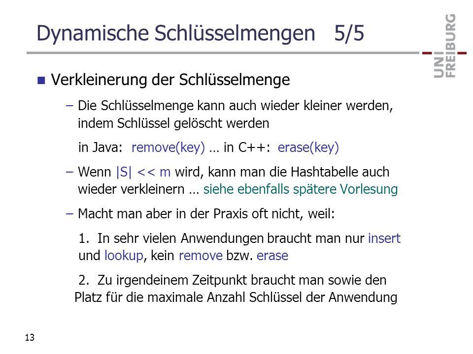 Dynamische Schlüsselmengen 5/5