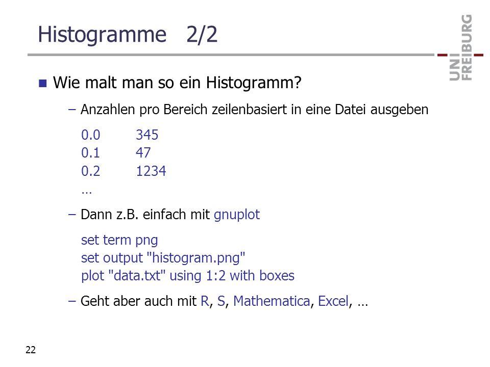 Histogramme 2/2 Wie malt man so ein Histogramm