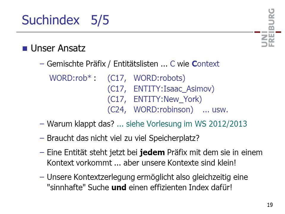 Suchindex 5/5 Unser Ansatz