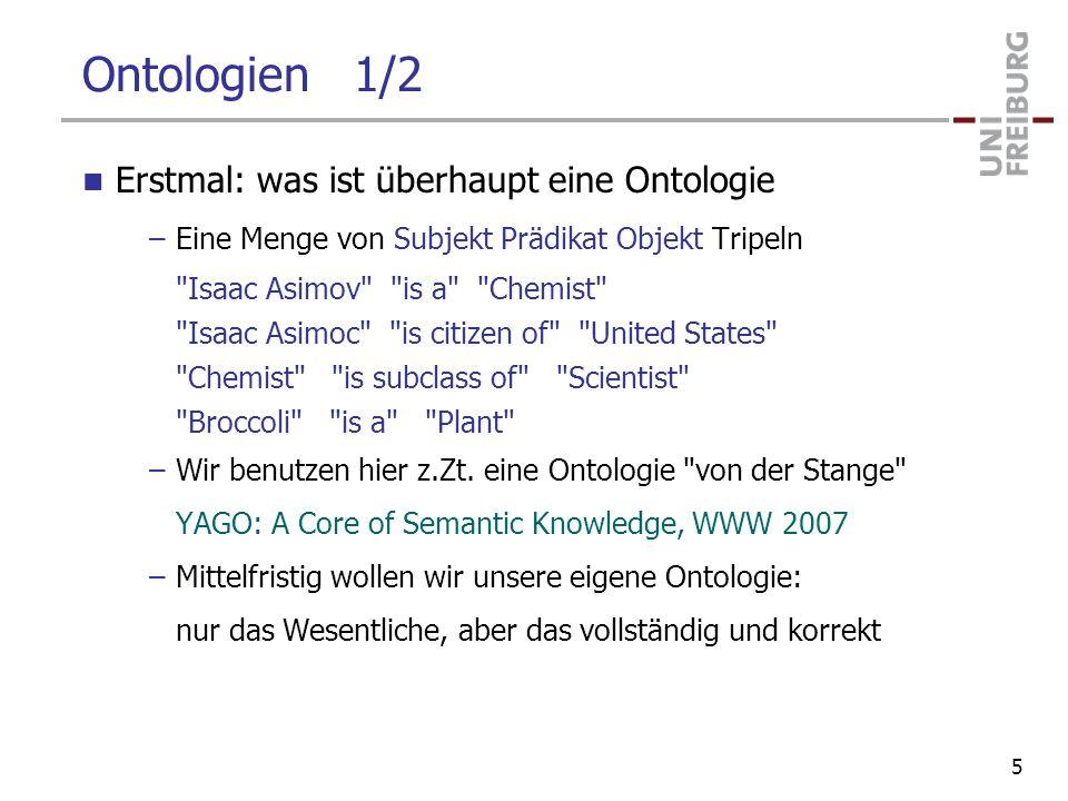 Ontologien 1/2 Erstmal: was ist überhaupt eine Ontologie
