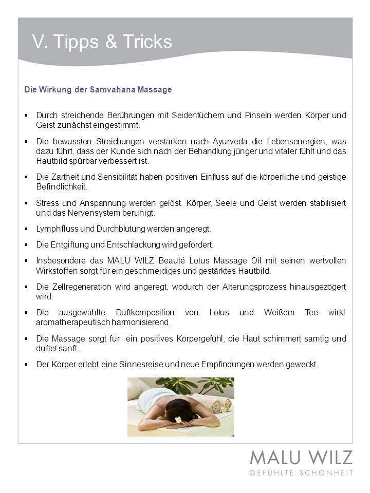 V. Tipps & Tricks Die Wirkung der Samvahana Massage