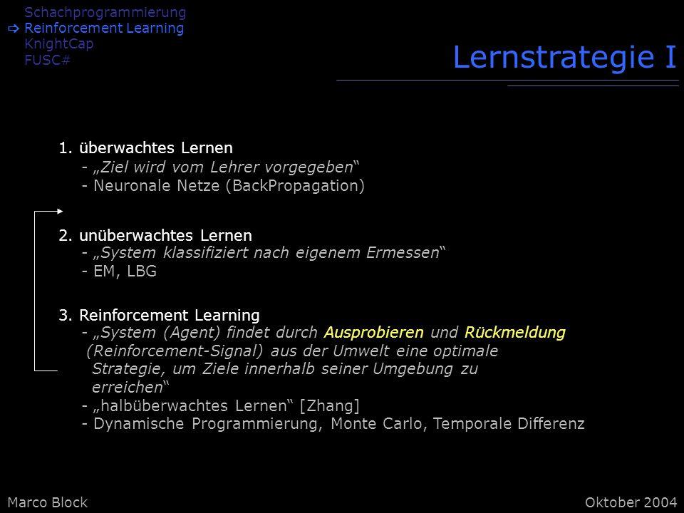 Lernstrategie I 1. überwachtes Lernen