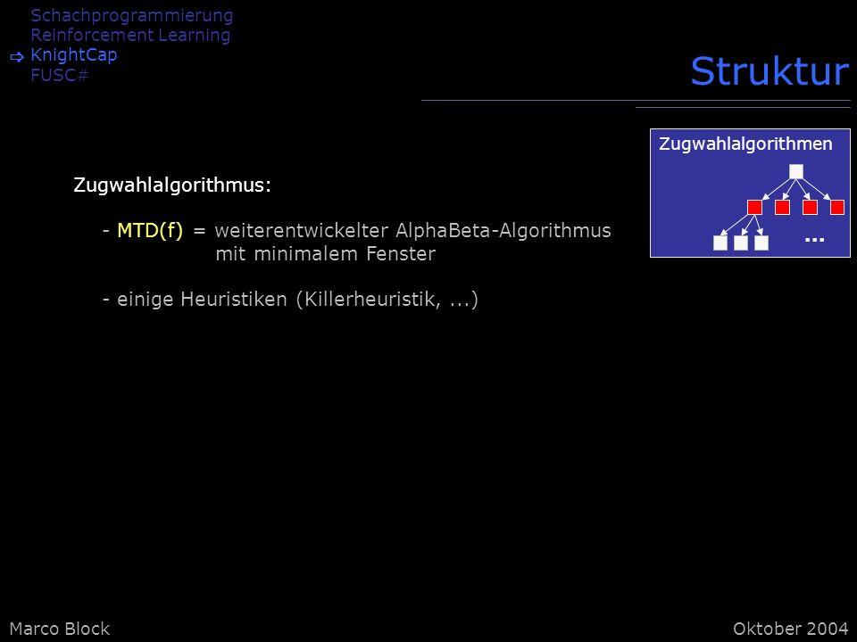 Struktur Zugwahlalgorithmus: