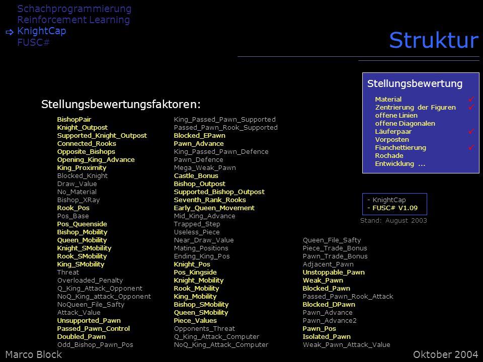 Struktur Stellungsbewertungsfaktoren: Schachprogrammierung