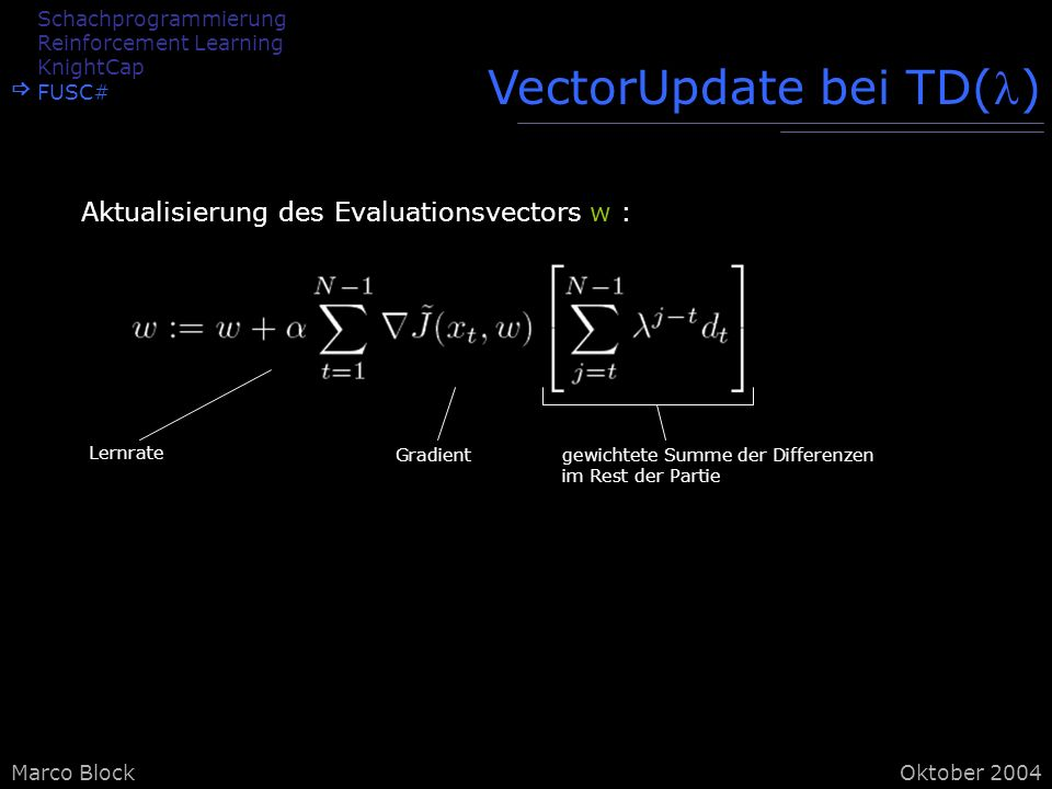 VectorUpdate bei TD()