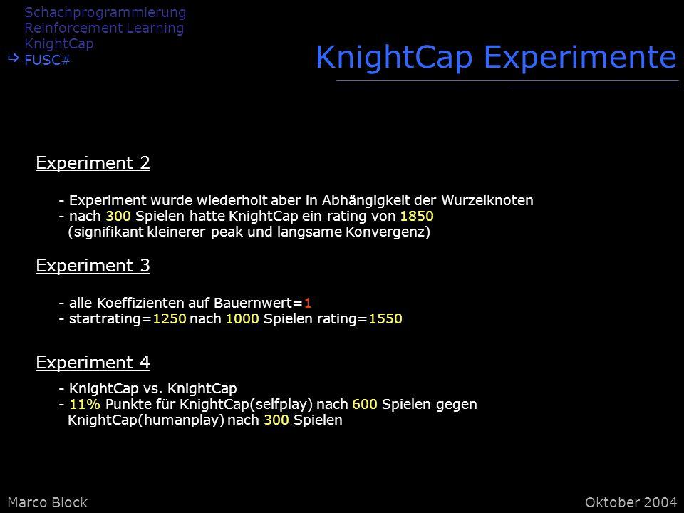 KnightCap Experimente