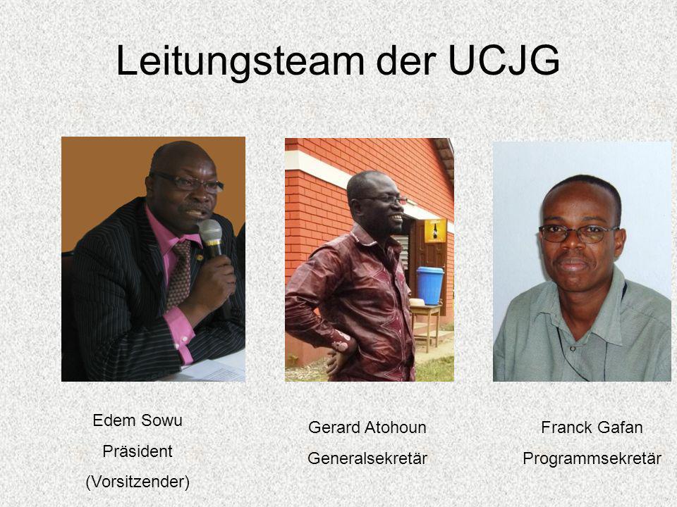 Leitungsteam der UCJG Edem Sowu Präsident (Vorsitzender)