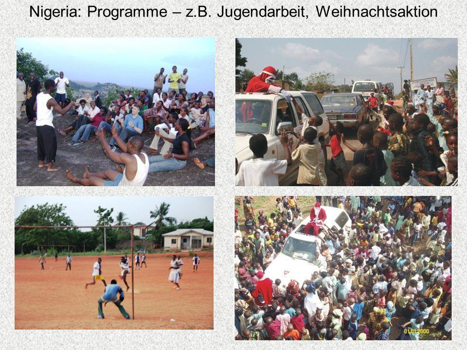 Nigeria: Programme – z.B. Jugendarbeit, Weihnachtsaktion