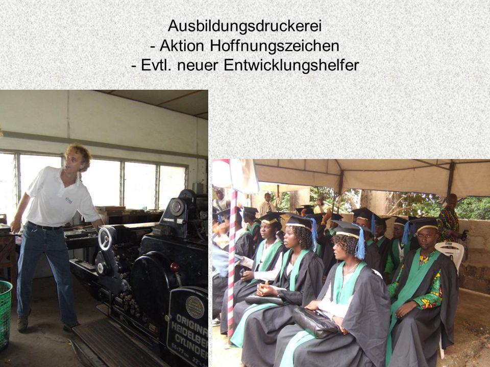 Ausbildungsdruckerei - Aktion Hoffnungszeichen - Evtl