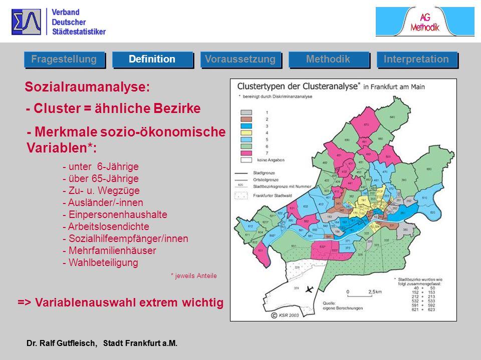 - Cluster = ähnliche Bezirke