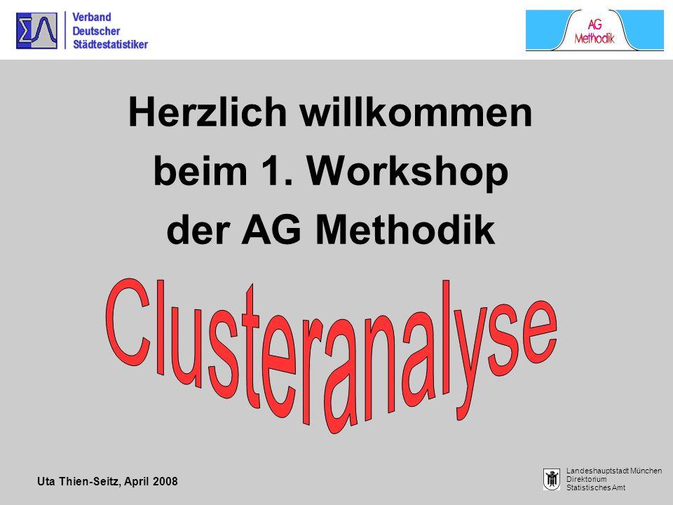 Herzlich willkommen beim 1. Workshop der AG Methodik