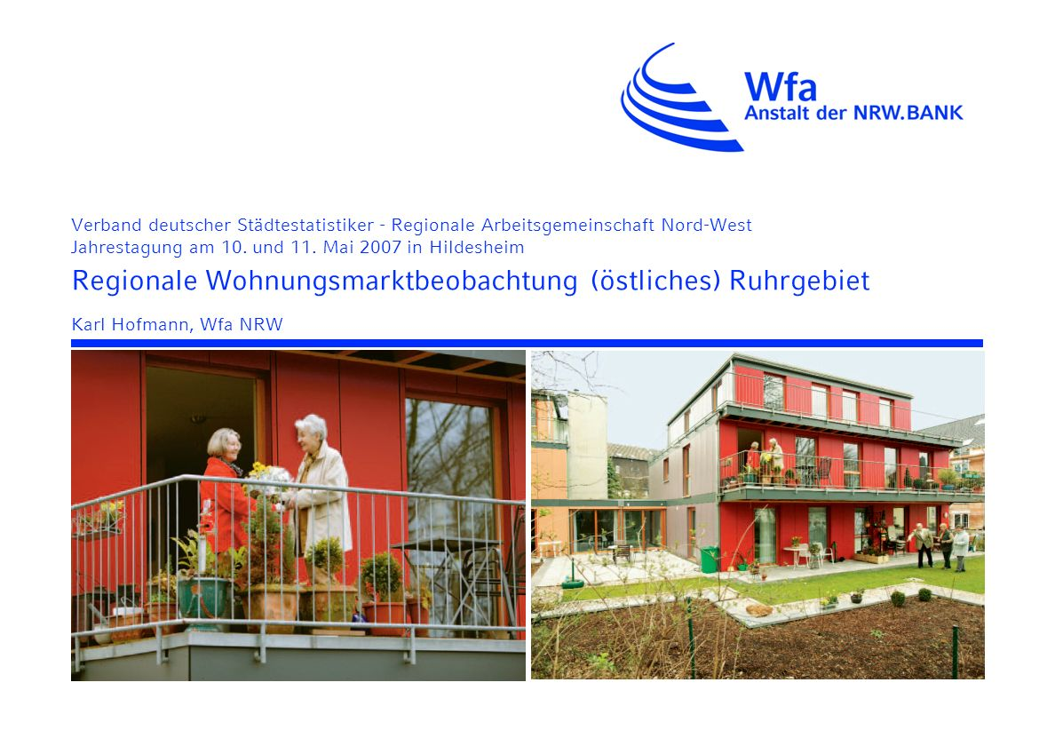 Regionale Wohnungsmarktbeobachtung (östliches) Ruhrgebiet