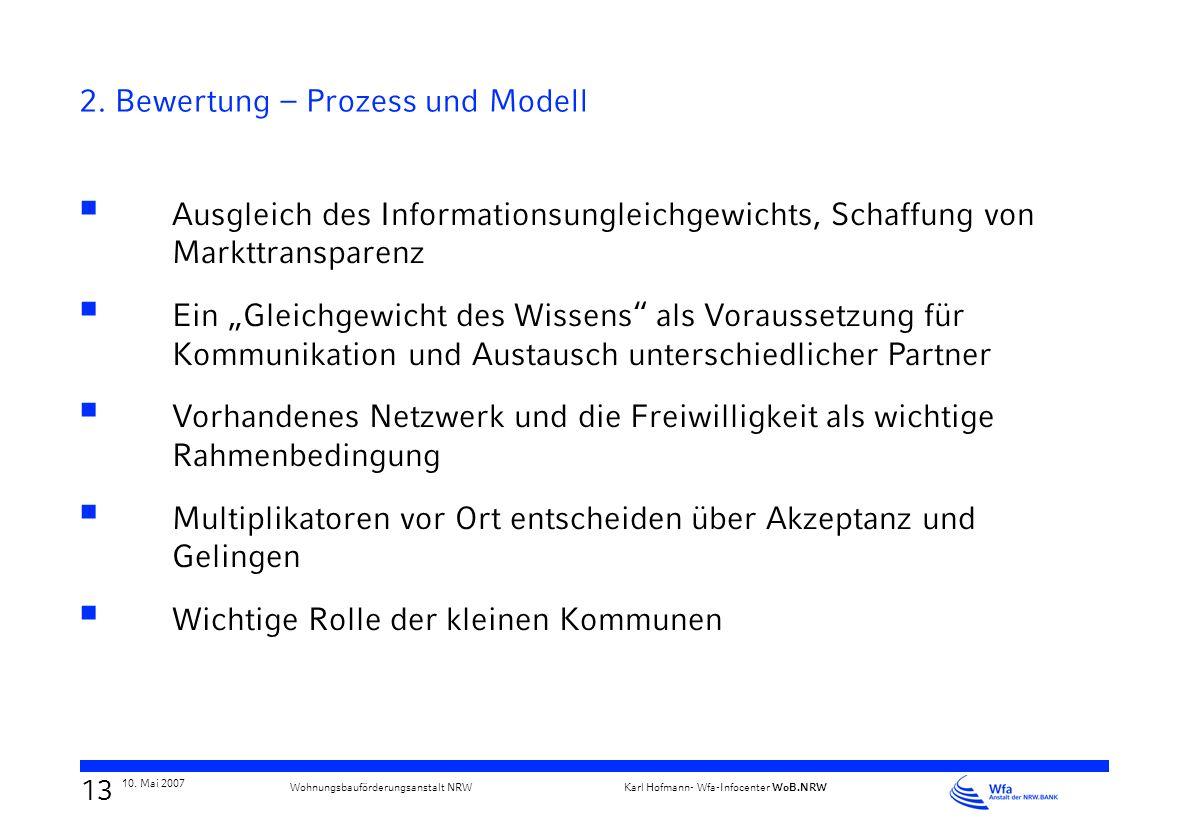 2. Bewertung – Prozess und Modell