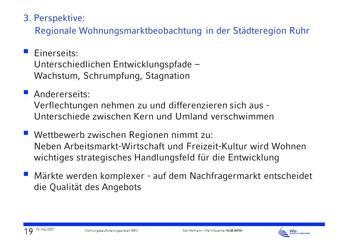 3. Perspektive: Regionale Wohnungsmarktbeobachtung in der Städteregion Ruhr