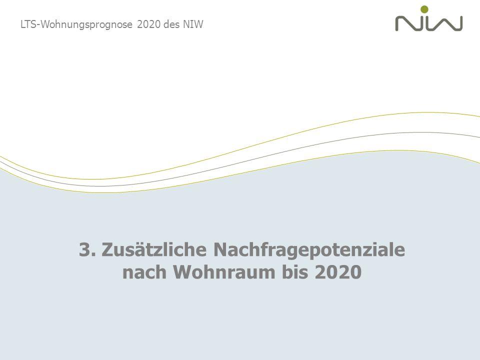3. Zusätzliche Nachfragepotenziale nach Wohnraum bis 2020