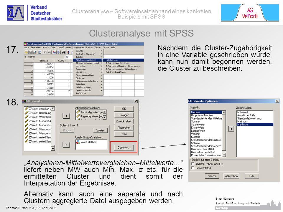 Clusteranalyse mit SPSS