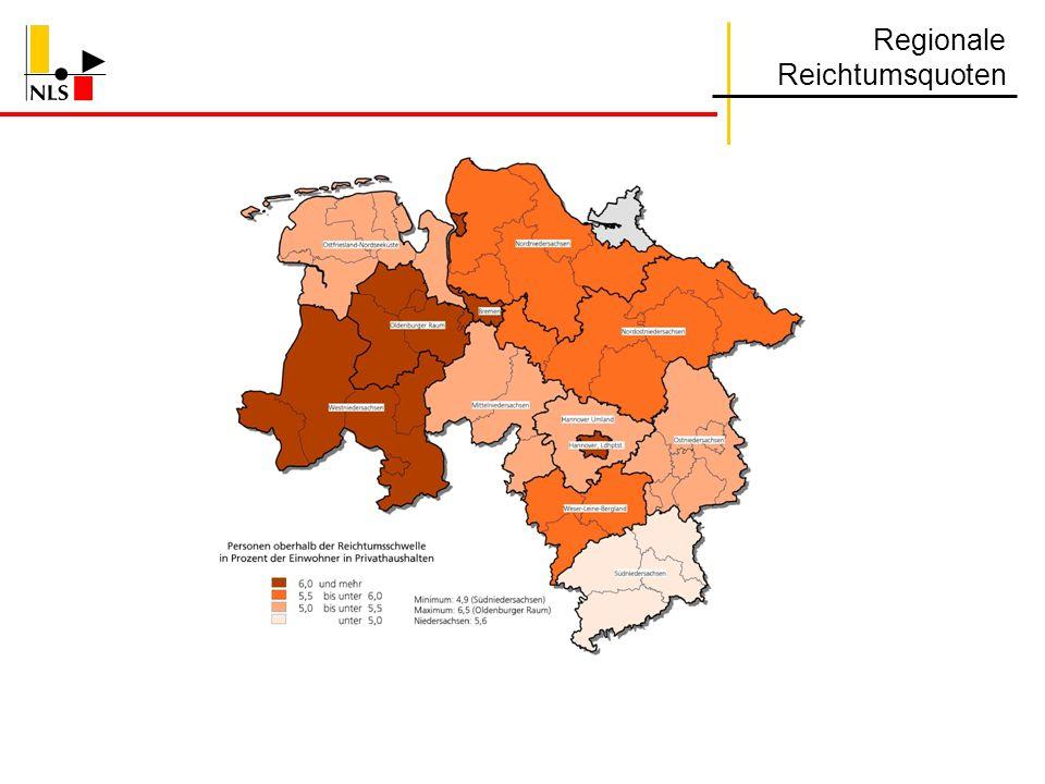 Regionale Reichtumsquoten