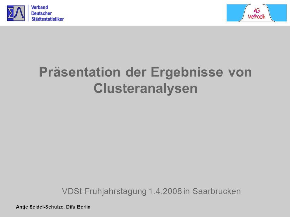 Präsentation der Ergebnisse von Clusteranalysen