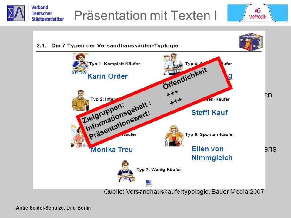 Präsentation mit Texten I