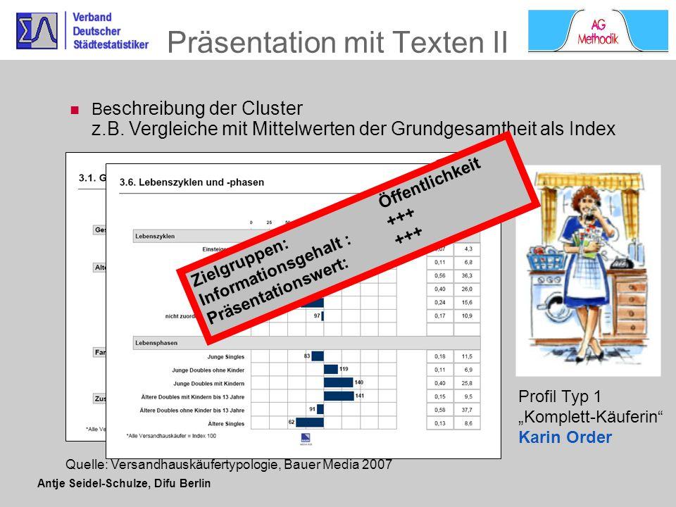 Präsentation mit Texten II