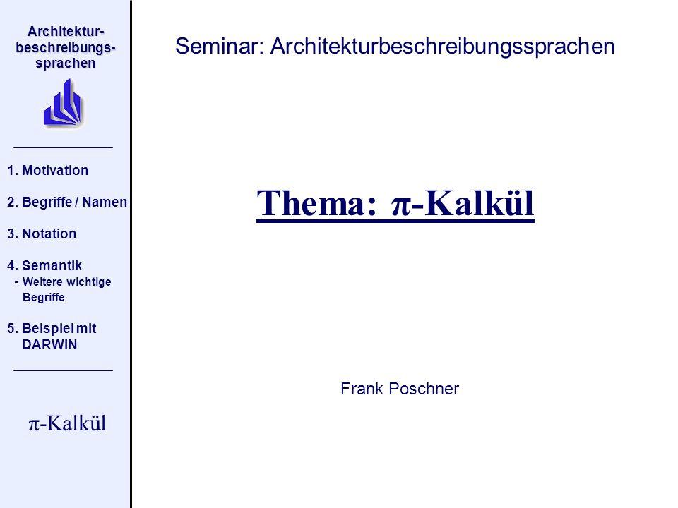 Seminar: Architekturbeschreibungssprachen