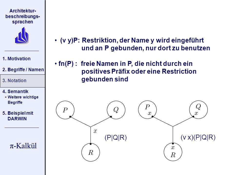 (v y)P: Restriktion, der Name y wird eingeführt