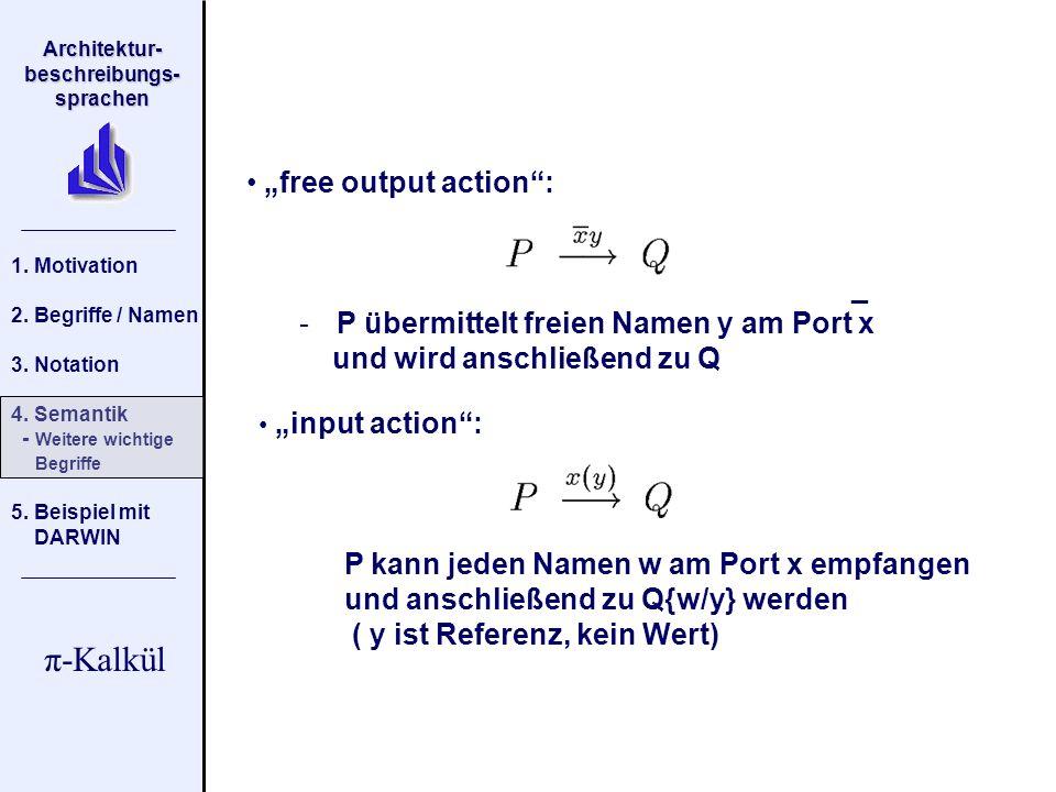 P übermittelt freien Namen y am Port x und wird anschließend zu Q