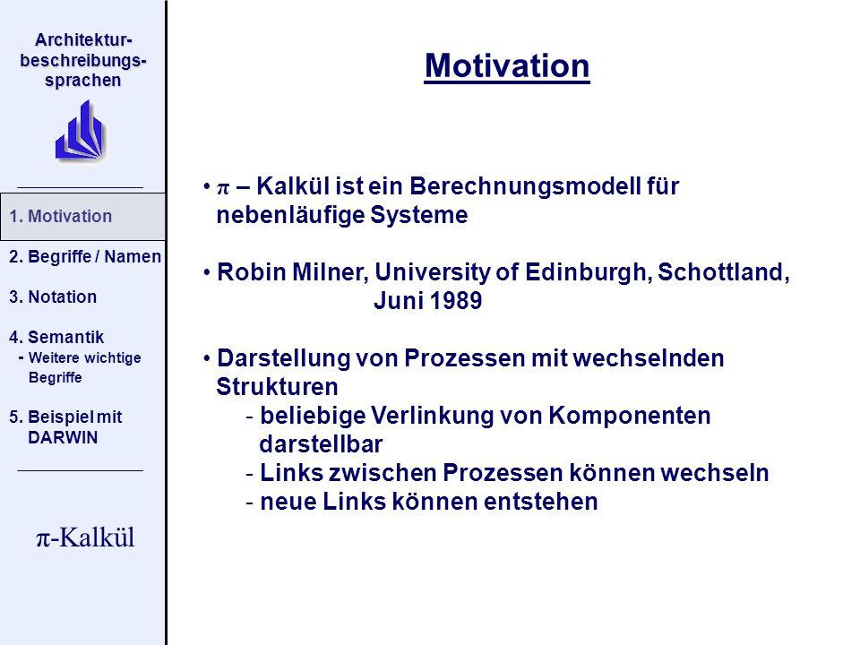 Motivation π – Kalkül ist ein Berechnungsmodell für