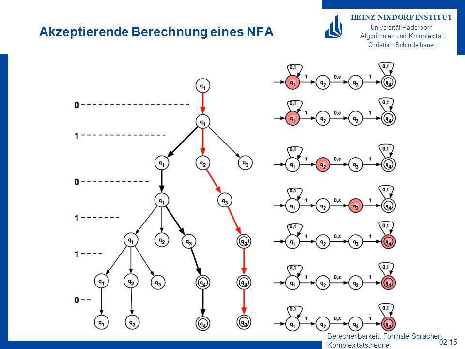 Akzeptierende Berechnung eines NFA