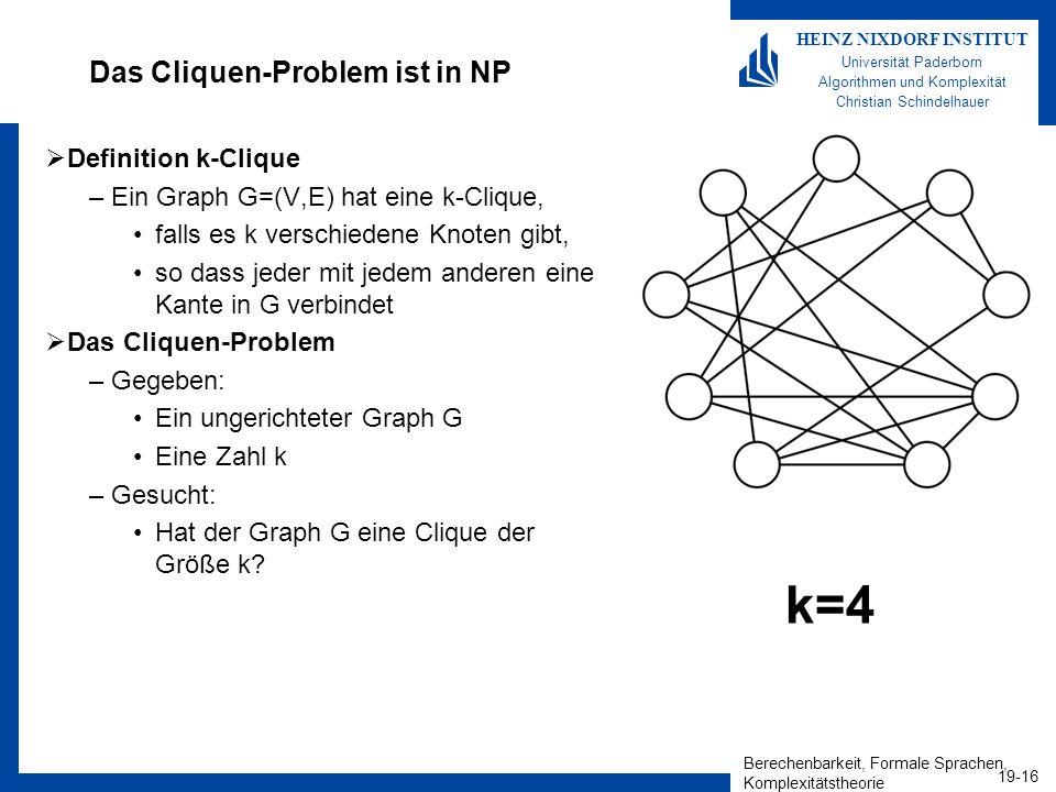 Das Cliquen-Problem ist in NP