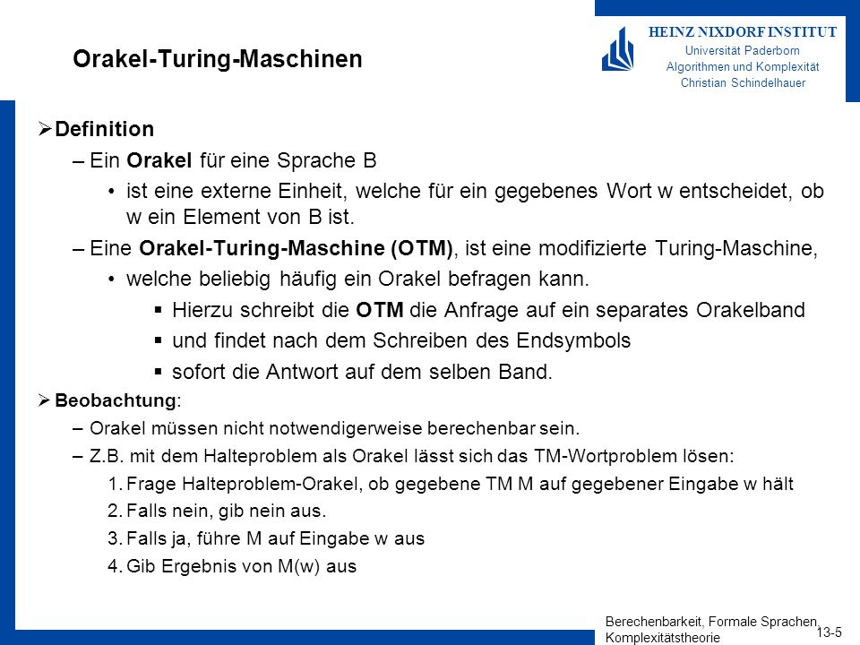 Orakel-Turing-Maschinen