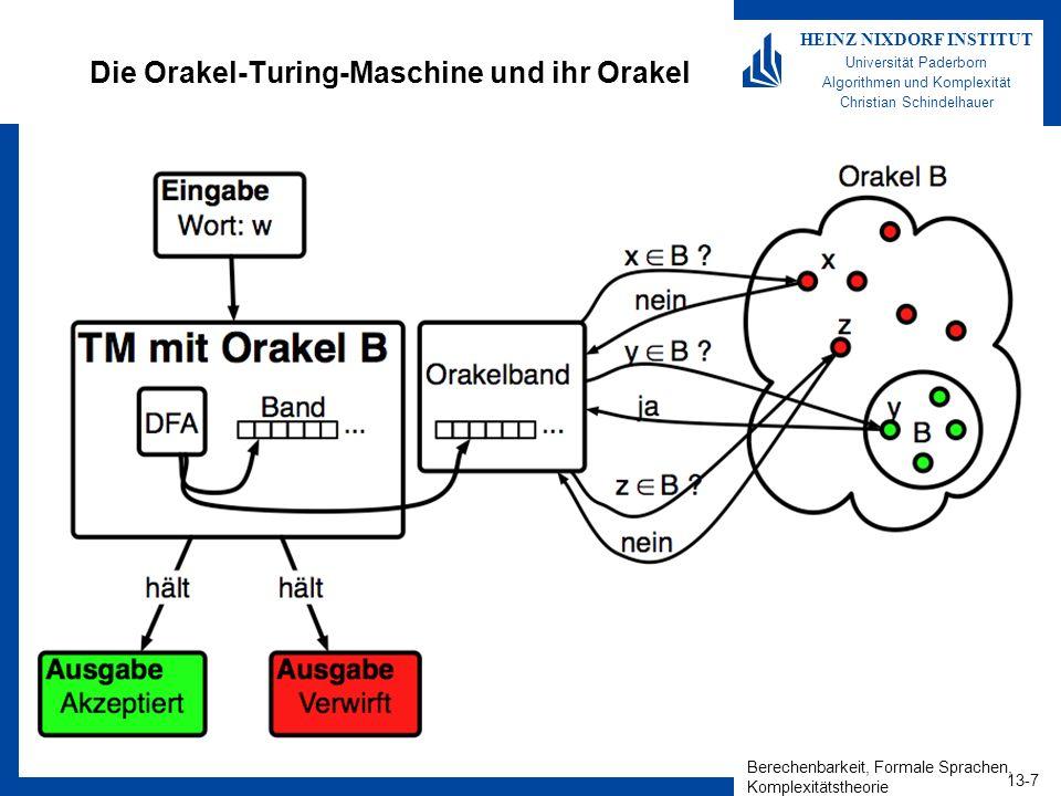 Die Orakel-Turing-Maschine und ihr Orakel