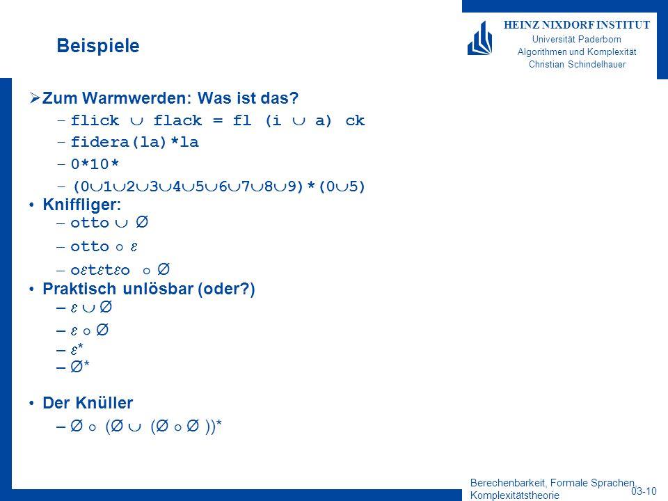 Beispiele Zum Warmwerden: Was ist das flick  flack = fl (i  a) ck