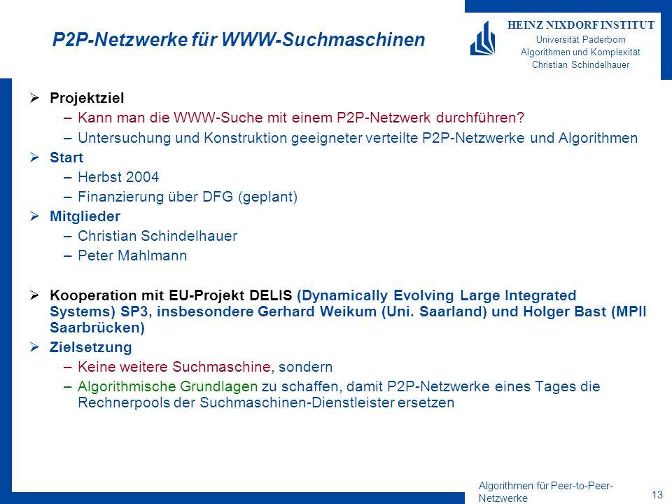 P2P-Netzwerke für WWW-Suchmaschinen
