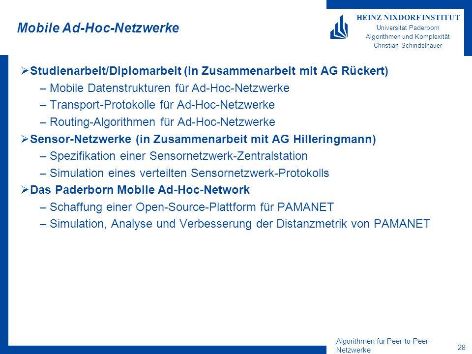 Mobile Ad-Hoc-Netzwerke