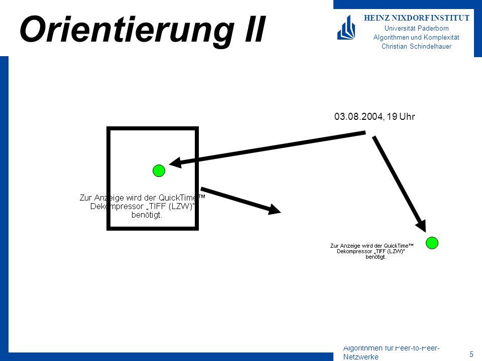 Orientierung II 03.08.2004, 19 Uhr