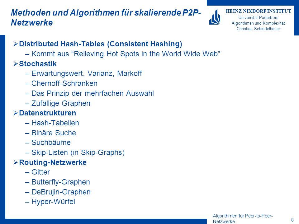 Methoden und Algorithmen für skalierende P2P-Netzwerke