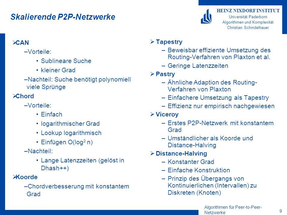 Skalierende P2P-Netzwerke