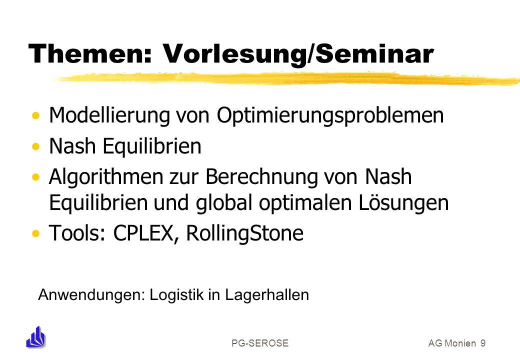 Themen: Vorlesung/Seminar