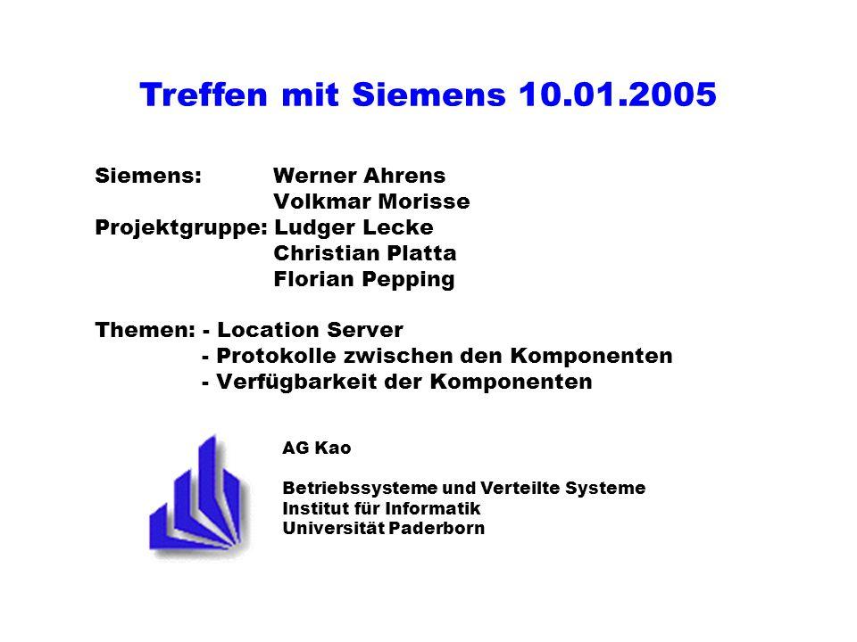Treffen mit Siemens 10.01.2005