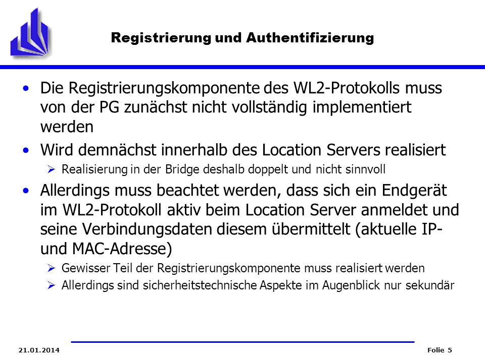 Registrierung und Authentifizierung